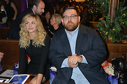 TAMSIN EGERTON and actor NICK FROST at the Quintessentially Foundation and The Crown Estate's Fayre of St.James' on 27th November 2014.  The evening started with a christmas concert at St.James's Church, Piccadilly.  Following the concert singer Leona Lewis switched on the Jermyn Street Christmas lights and then guests had a party at the newly refurbished Quaglino's, 16 Bury Street, London