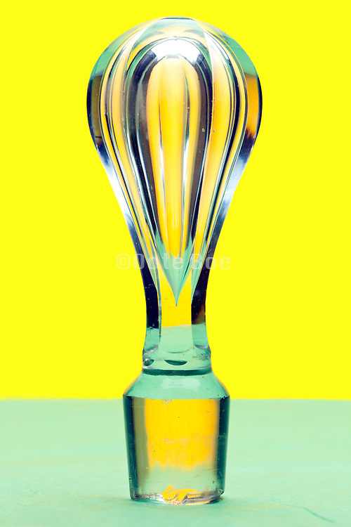 antique glass bottle stopper
