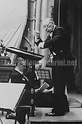 Rome, November 1956. Composer, pianist and conductor Igor Stravinsky / Roma, novembre 1956. Il compositore, direttore d'orchestra e pianista Igor Stravinskij in concerto - Marcello Mencarini Historical Archives