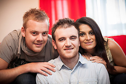 © Licensed to London News Pictures . FILE PICTURE DATED 25 November 2012 . Hulme , Manchester , UK .  L-R BEN ADAMS , LEE ROBINSON and SARA ADAMS (all correct) . As reported in the Manchester Evening News on 26th November 2012, newlywed Ben Adams (24) accompanied single best friend Lee Robinson (26) on a speed dating trip to Paris , to lend moral support . Even though he wore his wedding ring and made it clear he was spoken for , Ben still ended up being voted the most wanted man by the women on the trip and he won a holiday to Majorca to share with the woman of his choice . Although they've only recently returned from their honeymoon in Egypt , the couple are now travelling to Majorca . Photo credit : Joel Goodman/LNP
