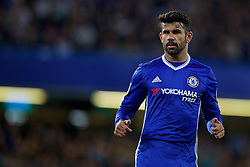 LONDON, ENGLAND - Friday, September 16, 2016: Chelsea's Diego Costa in action against Liverpool during the FA Premier League match at Stamford Bridge. (Pic by David Rawcliffe/Propaganda)