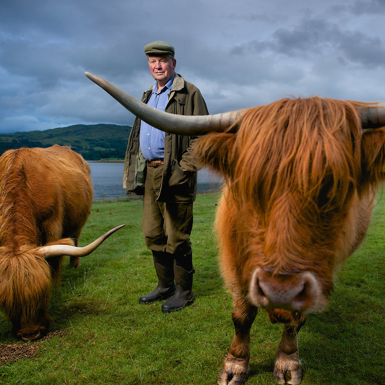 Lorne Nelson raises Highland cattle on his family estate, Kilmaronaig, near Connel, Argyll, Scotland.