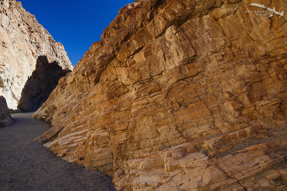 Mosaic Canyon in Death Valley features impressive geological formations.