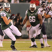 Zach Sudfeld, New York Jets, in action during the New York Jets Vs Chicago Bears, NFL regular season game at MetLife Stadium, East Rutherford, NJ, USA. 22nd September 2014. Photo Tim Clayton for the New York Times
