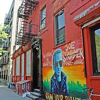 Joe Strummer mural, East Village