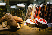 Photos of food and interiors at Cocotte restaurant in New York City