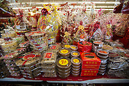 Nuts and candies are displayed at Arcadia Market on Saturday, Feburay 2, 2013 ahead of the Lunar New Year in Los Angeles, California,  This year, the first day of the Year of the Snake, falls on Sunday, Feburary10.  (Photo by Ringo Chiu/PHOTOFORMULA.com).