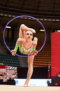 Marina Alberione from Eurogymnica Torino team during the Italian Rhythmic Gymnastics Championship in Bologna, 9 February 2019.