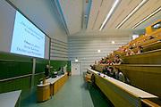 Vienna, Austria. Veterinärmedizinische Universität Wien (Vetmeduni Vienna).<br /> An auditorium.<br /> FREE ONLY FOR VETMEDUNI INTERNAL USE - ALL OTHERS MUST ACQUIRE PUBLICATION RIGHTS FROM HEIMO AGA!
