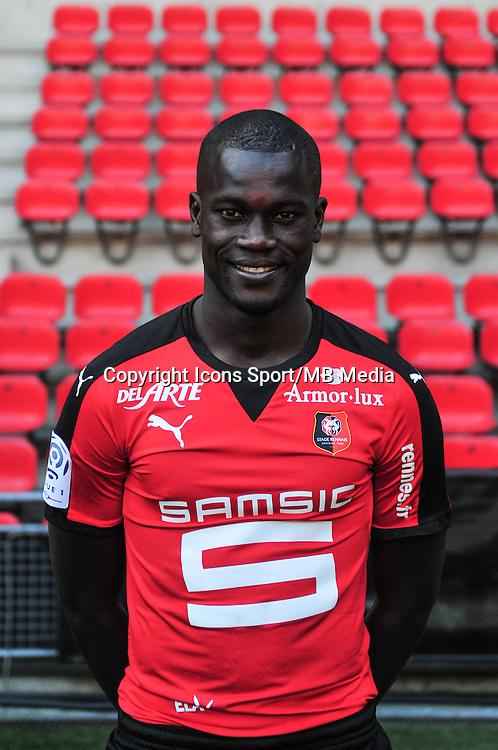 Fallou Diagne - 15.09.2015 - Photo officielle Rennes - Ligue 1 2015/2016<br /> Photo : Philippe Le Brech / Icon Sport
