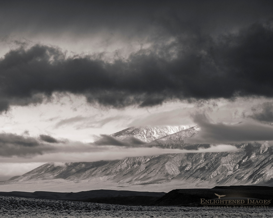 Storm clouds over the White Mountains, Inyo County, California