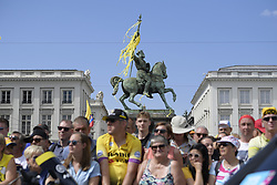 July 6, 2019 - Brussels, Belgium - Illustration picture shows the Godfrey of Bouillon (Godefroy de Bouillon - Godfried van Bouillon) statue, at the start of the first stage of the 106th edition of the Tour de France cycling race, 194,5km from and to Brussels, Belgium, Saturday 06 July 2019. This year's Tour de France starts in Brussels and takes place from July 6th to July 28th. (Credit Image: © Yorick Jansens/Belga via ZUMA Press)