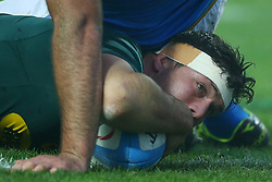 November 25, 2017 - Padova, Italy - Francois Louw of South Africa scoring a try during the Rugby test match between Italy and South Africa at Plebiscito Stadium in Padova, Italy on November 25, 2017. (Credit Image: © Matteo Ciambelli/NurPhoto via ZUMA Press)