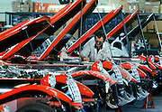 Panther speciality cars being produced by Panther Westwind, makers of speciality automobiles, at their factory in Surrey in 1978