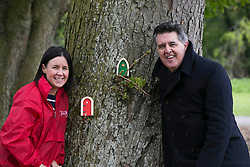 Repro Free: Dublin Released 11/05/2014 <br /> National Enterprise Week Launch Photograph <br /> Niamh Sherwin Barry, Director of The Irish Fairy Door Company and Gerry Prizeman, Head of Enterprise Development, Bank of Ireland are pictured at the fairy wood in Corkagh Park, Clondalkin, Dublin to announce the launch of the Bank&rsquo;s tenth National Enterprise Week which runs from  Friday, 16  May - Friday, 23  May 2014. The theme of the week is &ldquo;Enabling Enterprise&rdquo; and the Bank is focused on supporting Ireland&rsquo;s SMEs, start-ups and the Agri sector to help foster business growth and development in the Irish economy. A number of events will take place around the country including economic and enterprise breakfasts, social media clinics and  business owners will also  be showcasing their companies at the &lsquo;Show Your Business&rsquo; events in Bank branches throughout the country. Picture Andres Poveda