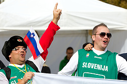 Fans of Slovenia during concert of Slovenian singer Zoran Predin at FIBA Europe Eurobasket Lithuania 2011, on September 10, 2011, in   Vilnius, Lithuania.  (Photo by Vid Ponikvar / Sportida)