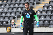 Derby County goalkeeper Scott Carson (17)  during the Sky Bet Championship play-off 2nd leg match between Hull City and Derby County at the KC Stadium, Kingston upon Hull, England on 17 May 2016. Photo by Simon Davies.