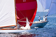 Clarity, 6 Meter Class, sailing in the Robert H. Tiedemann Classic Yachting Weekend race 1.