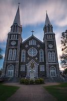 Baie-Saint-Paul Church Long Exposure Sunset, Quebec, Canada