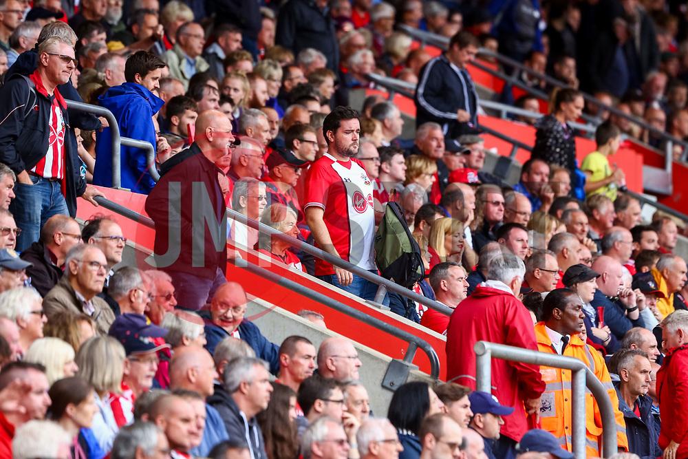 Southampton fans leave before the final whistle - Mandatory by-line: Ryan Hiscott/JMP - 12/08/2018 - FOOTBALL - St Mary's Stadium - Southampton, England - Southampton v Burnley - Premier League