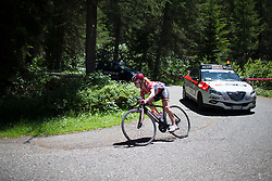 Emma Pooley (GBR) of Lotto Soudal Cycling Team tackles a corner during the Giro Rosa 2016 - Stage 5. A 77.5 km road race from Grosio to Tirano, Italy on July 6th 2016.
