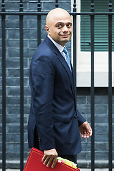 Downing Street, London, November 15th 2016.  Communities and Local Government Secretary Sajid Javid leaves Downing Street following the weekly cabinet meeting.