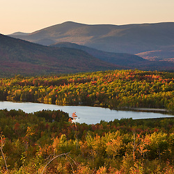 Jerico Lake as seen from Jericho Mountain State Park in Berlin, New Hampshire. White Mountains.