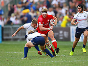 Canadian captain John Moonlight prepares for contact in the game Canada vs Russia during the Cathay Pacific/HSBC Hong Kong Sevens festival at the Hong Kong Stadium, So Kon Po, Hong Kong. on 8/04/2018. Picture by Ian  Muir.