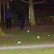 Schietpartij Brink Muiderberg, 3 gewonden, tussen skinheads en Marokkanen, onderzoek technische recherche, sporenonderzoek,