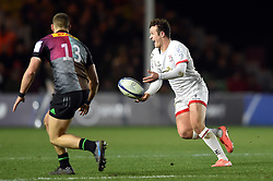 Billy Burns of Ulster passes the ball - Mandatory byline: Patrick Khachfe/JMP - 07966 386802 - 13/12/2019 - RUGBY UNION - The Twickenham Stoop - London, England - Harlequins v Ulster Rugby - Heineken Champions Cup
