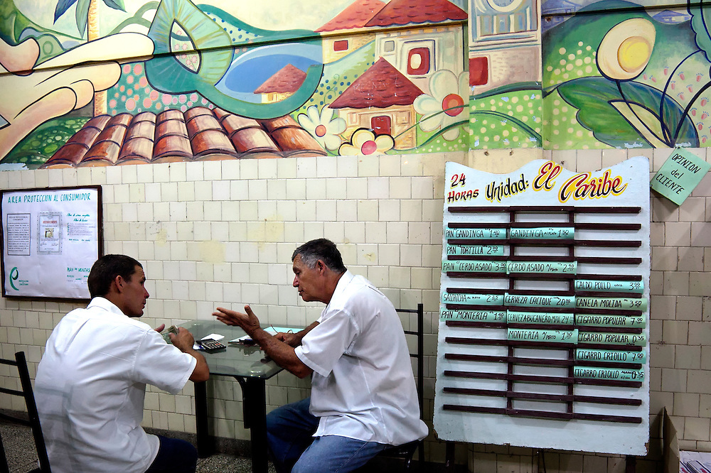Staff at El Caribe in Gibara, Holguin, Cuba.