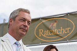© Licensed to London News Pictures. 31/07/2015. Leeds , UK . NIGEL FARAGE at the Ratcatcher marquee at the CLA GameFair ( Country Landowners Association ) at Harewood House in Yorkshire . Photo credit: Joel Goodman/LNP
