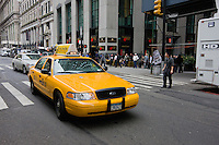 yellow taxi in New York October 2008