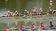 Plovdiv BULGARIA. 2017 FISA. Rowing World U23 Championships. <br /> NED BM8+. Celebrate. Bow OYEN, Michiel, PONSEN, Max, MANTEL, Michiel, SCHOLTEN, Jaap, HURKMANS, Maarten, VAN DORP, Simon, VAN DEN HERIK, Lex, SCHWARZ, Bram and Cox. KWEE, Bjorn.<br /> <br />  <br /> A and B Finals Sunday.<br /> <br /> 13:17:31  Sunday  23.07.17   <br /> <br /> [Mandatory Credit. Peter SPURRIER/Intersport Images].