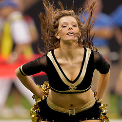 2009 September 13: New Orleans Saints Saintsations cheerleaders perform during a 45-27 win by the New Orleans Saints over the Detroit Lions at the Louisiana Superdome in New Orleans, Louisiana.
