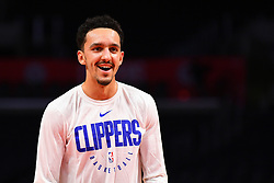 February 13, 2019 - Los Angeles, CA, U.S. - LOS ANGELES, CA - FEBRUARY 13: Los Angeles Clippers Guard Landry Shamet (20) looks on before a NBA game between the Phoenix Suns and the Los Angeles Clippers on February 13, 2019 at STAPLES Center in Los Angeles, CA. (Photo by Brian Rothmuller/Icon Sportswire) (Credit Image: © Brian Rothmuller/Icon SMI via ZUMA Press)