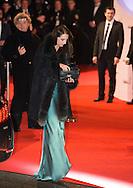 France, Frédérique Bel arrive à la cérémonie des César 2014, Paris, Théatre du Chatelet