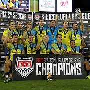 The Australian Wallabies prevailed over the USA Eagles 15-12, in a passionate tight game, to win the innaugural Silicon Valley 7's, at Avaya Stadium, San Jose, California, USA.  Photo by Barry Markowitz, 11/6/17