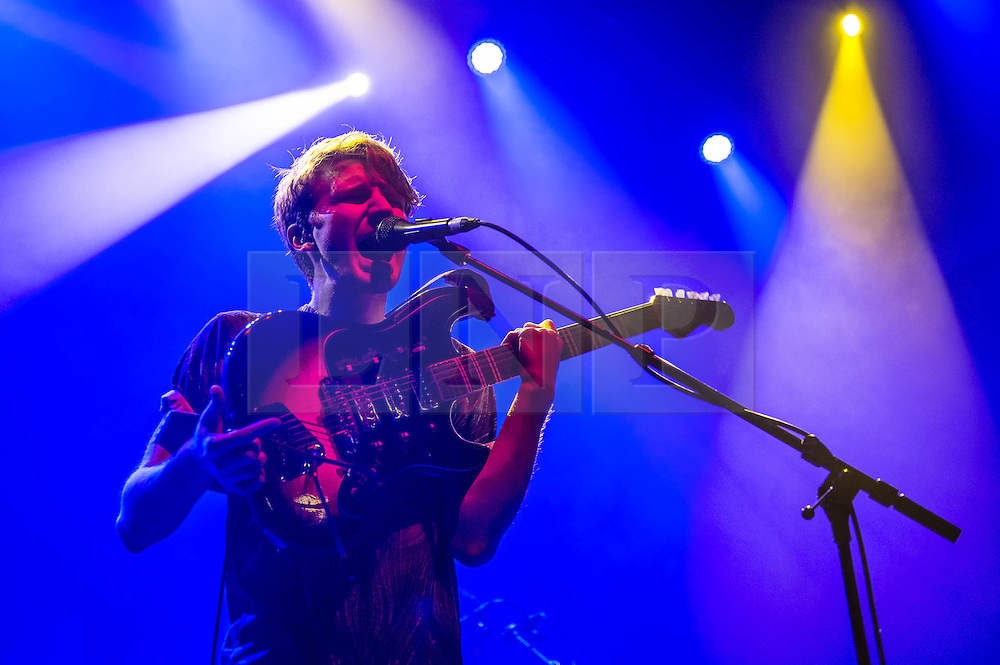 © Licensed to London News Pictures. 20/02/2014. London, UK.   Glass Animals performing live at Shepherds Bush Empire, supporting headliner St Vincent.   Photo credit : Richard Isaac/LNP