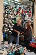 Souk, Marktstraße, Nazareth, Galiläa, Israel.|.souk, market street, Nazareth, Galilee,  Israel.