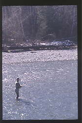 Fishing the Hoh River, Olympic National Forest, Washington, US