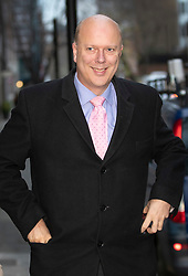 © Licensed to London News Pictures. 02/01/2019. London, UK. Transport Secretary Chris Grayling is seen near TV studios in Westminster after giving interviews about today's rail fare increases. Photo credit: Peter Macdiarmid/LNP