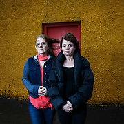 For Sunday Herald. Cara (L) and Katie (R). Photographed together - They live within accommodation provided by Simon Community which helps to combat the causes and effects of homelessness. Picture Robert Perry for The Herald and Evening Times 7th Dec 2016