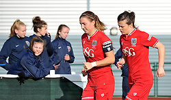 Bristol City Women players return to the field for the second half of their FA cup tie against QPR Ladies - Mandatory by-line: Paul Knight/JMP - Mobile: 07966 386802 - 14/02/2016 -  FOOTBALL - Stoke Gifford Stadium - Bristol, England -  Bristol Academy Women v QPR Ladies - FA Cup third round