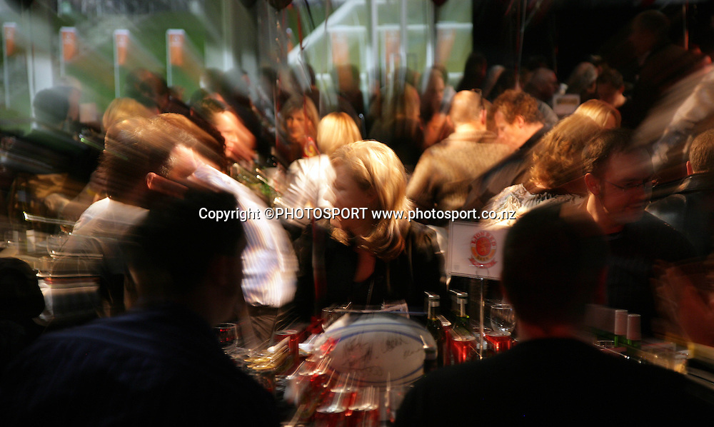 A pre match dinner function prior to the start of the match between the Vodafone Warriors and the Penrith Panthers at Mt Smart Stadium, Auckland on Friday 22 June 2007. Photo: Andrew Cornaga/PHOTOSPORT<br />