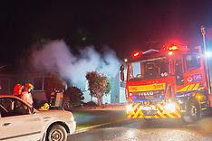 Wellington-Fire crews respond to Nuffield Street house fire, Tawa