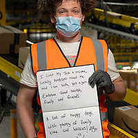 Inside Amazon MAN 3 Fulfilment Center.  Worked at Amazon  for 6 weeks, from Northern Ireland, previously worked At Danish Crown Meats.
