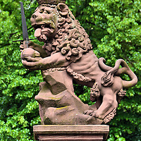 Palatine Lion Statue in Heidelberg, Germany <br />