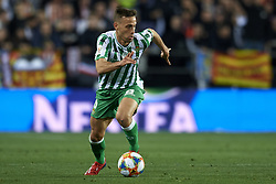 February 28, 2019 - Valencia, Valencia, Spain - Sergio Canales of Beti scontrols the ball during the Copa del Rey Semi Final match second leg between Valencia CF and Real Betis Balompie at Mestalla Stadium in Valencia, Spain on February 28, 2019. (Credit Image: © Jose Breton/NurPhoto via ZUMA Press)