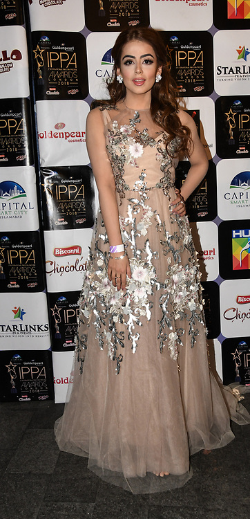 Presenter arrives at the Annual International Pakistan Prestige Awards (IPPA) at Indigo at The O2 on 9th September 2018, London, UK